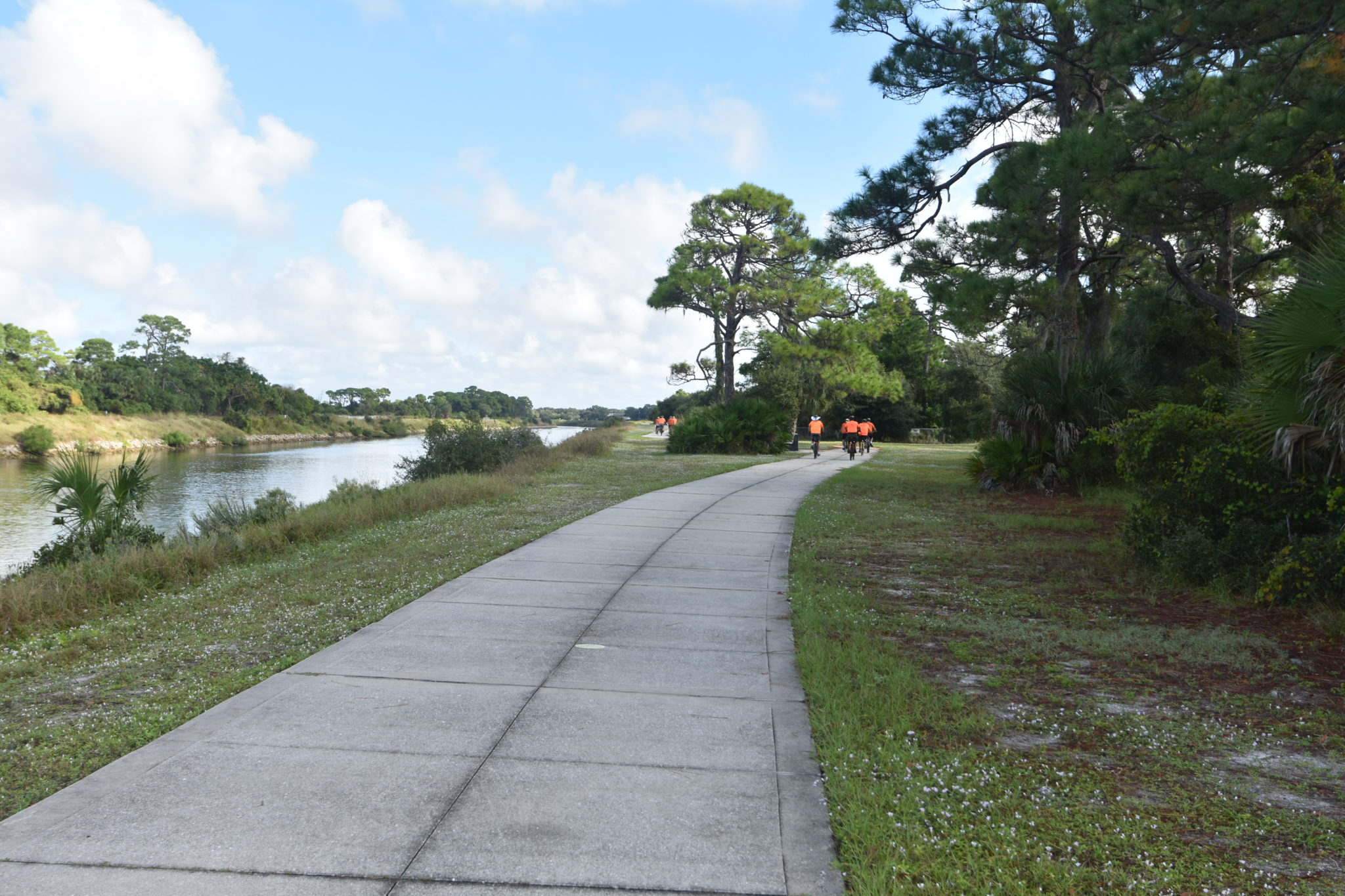 With a connecting trail that goes 30 miles North to Sarasota.
